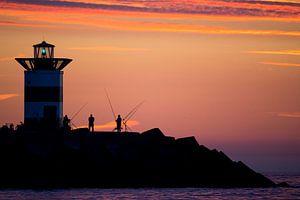 Fischer auf der Südmole