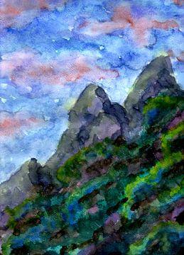 Berge und Sonnenuntergang von ZeichenbloQ