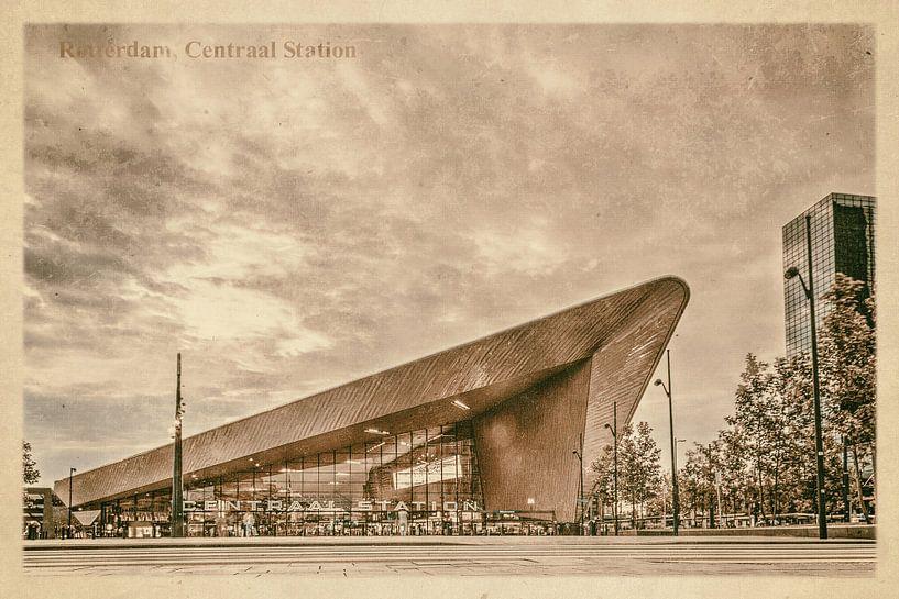 Oude ansichten: Rotterdam Centraal Station van Frans Blok
