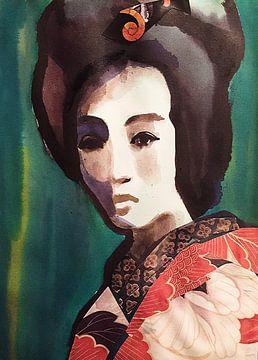Feder-Kimono von Helia Tayebi Art