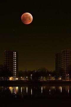 Bloedmaan boven Den Bosch van