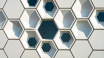 Modernes Museumsgebäude in Bienenwabenarchitektur von Fotografiecor .nl