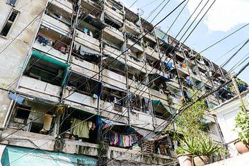 Bangkok-Slums flach von Ingeborg van Bruggen