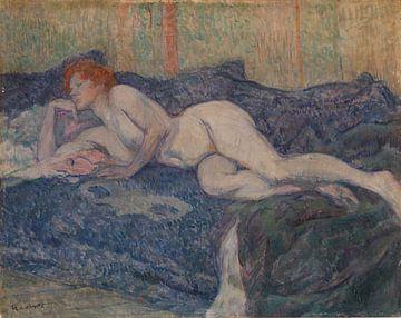 Henri de Toulouse-Lautrec, nackt auf einer Bank liegend - 1897 von Atelier Liesjes