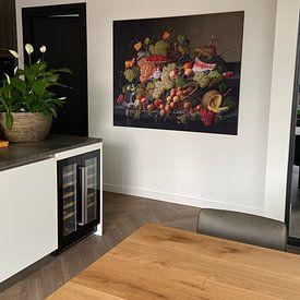Klantfoto: Overvloedig fruit, Severin Roesen, als print op doek