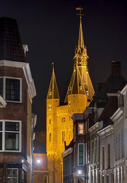 Vue sur la Sassenpoort Zwolle sur Fotografie Ronald