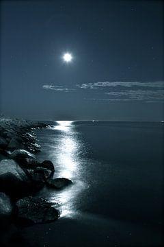 la Luna - De Maan boven de Venetiaanse kust