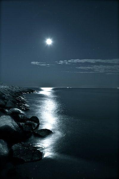 la Luna - De Maan boven Venetië  van Jasper van de Gein Photography