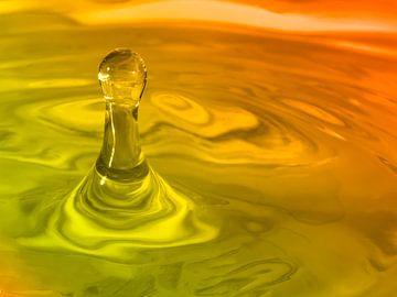 Wassertropfen duo-farbig