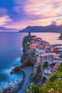 Vernazza by Night - Cinque Terre, Italië - 1 van