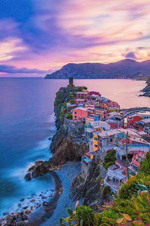Vernazza bei Nacht - Cinque Terre, Italien - 1