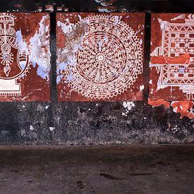 Traditionele muurschilderingen in Tempel van Affect Fotografie