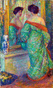 Im Spiegel gespiegelte Dame, Carl Newman