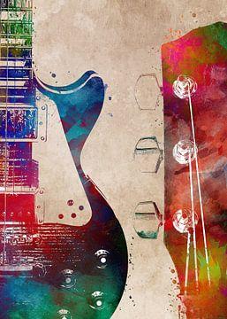 Gitaar 3 muziekkunst #gitaar #muziek van JBJart Justyna Jaszke