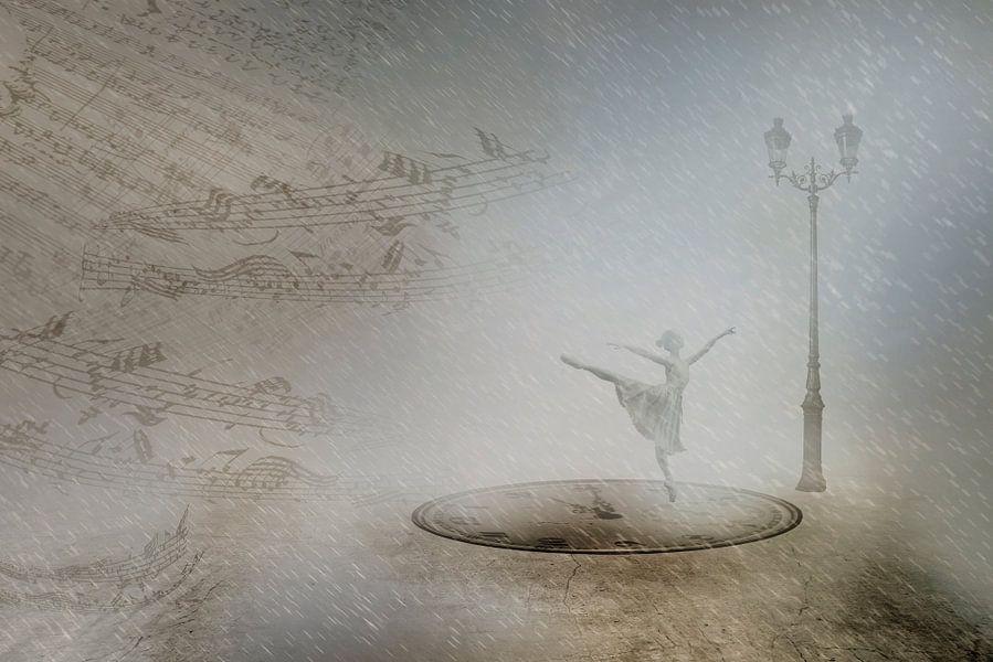 Dancing in the winter night van Erich Krätschmer