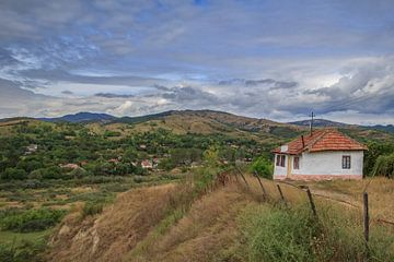 Huisje op de heuvel von Steve Mestdagh