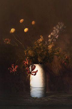 Stilleven met bloemen van Saskia Dingemans