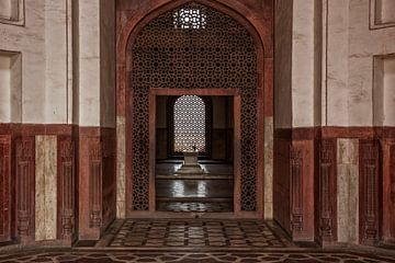 Fatehpur Sikri, India. Een zicht op het graf van Salim Chishti, Buland Gate van Tjeerd Kruse