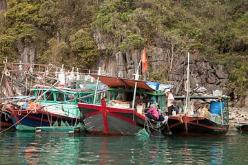 Vissersboten in Vietnam van t.ART