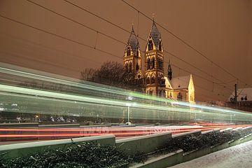 Winternacht Freiburg von Patrick Lohmüller