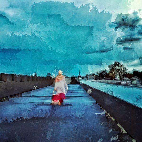 De verschijning van Fátima (digitale aquarel) van Ruben van Gogh