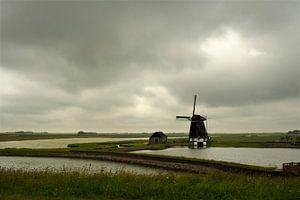 """Molen """"Het Noorden"""" aan de Stuifweg op Texel."""