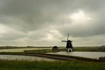 "Mill "" North "" at the Stuifweg on Texel  sur"