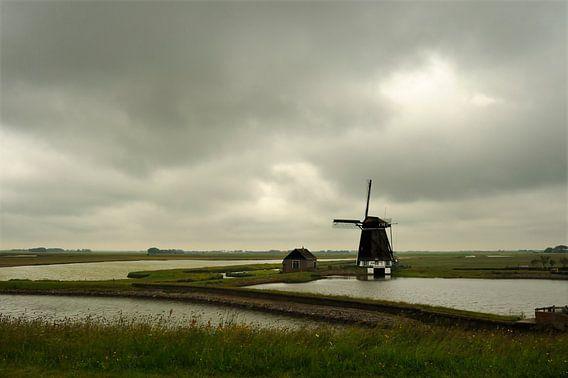"""Molen """"Het Noorden"""" aan de Stuifweg op Texel. van Gonnie van de Schans"""