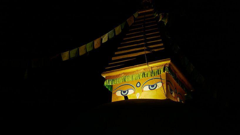 Boeddha kijkt naar je. van Timon Schneider