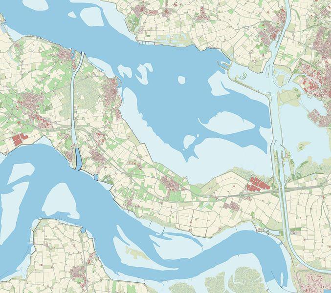 Kaart vanReimerswaal