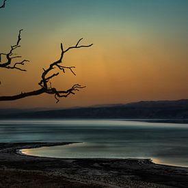 Israël , de Dode  Zee bij nacht van Rita Phessas