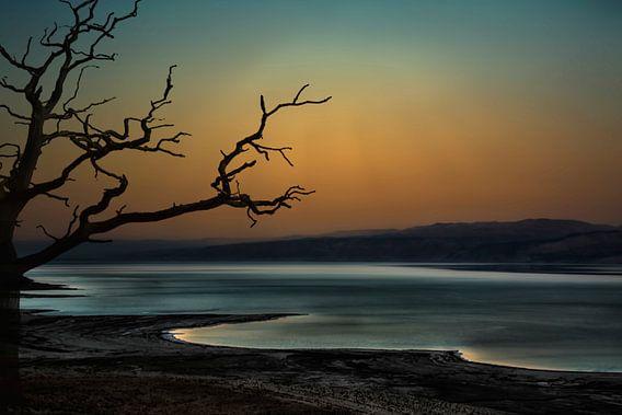 Israël , de Dode  Zee bij nacht