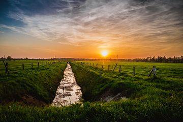 Coucher de soleil dans le fossé sur Stedom Fotografie