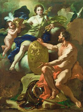 Venus bij de Smidse van Vulcanus - Francesco Solimena, 1704 van Atelier Liesjes