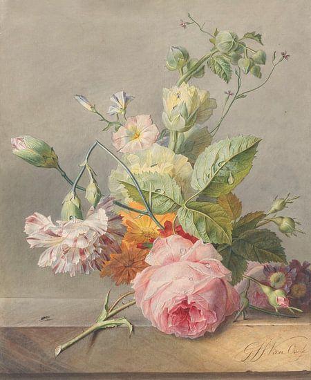Bloemstilleven van Georgius Jacobus Johannes van Os