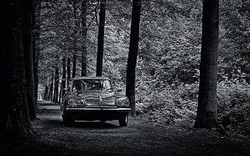 Citroën DS 23 Pallas Schwarz und Weiß von Wim Schuurmans