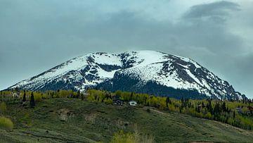 Besneeuwde bergtop von Donny Kardienaal