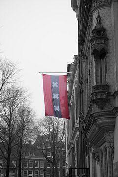 Die Flagge von Amsterdam. von Marleen Kuijpers