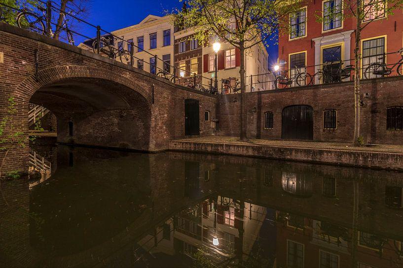 Quintijnsbrug en Quintijnsgasthuis, Nieuwegracht, Utrecht. van André Russcher