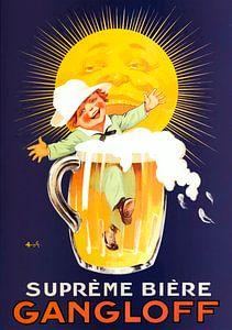 """Französische Vintage-Bierwerbung """"Gangloff"""" von Zeger Knops"""
