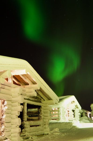 northern light - Iso Syöte - Finland - Lapland van Erik van 't Hof