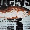 Vis op krantenpapier, goudvis van Muurbabbels Typographic Design thumbnail