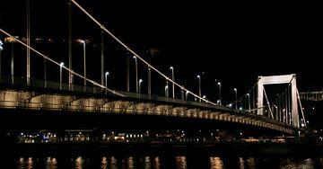 Brug over de Donau in Budapest, Hongarije van Willem van den Berge
