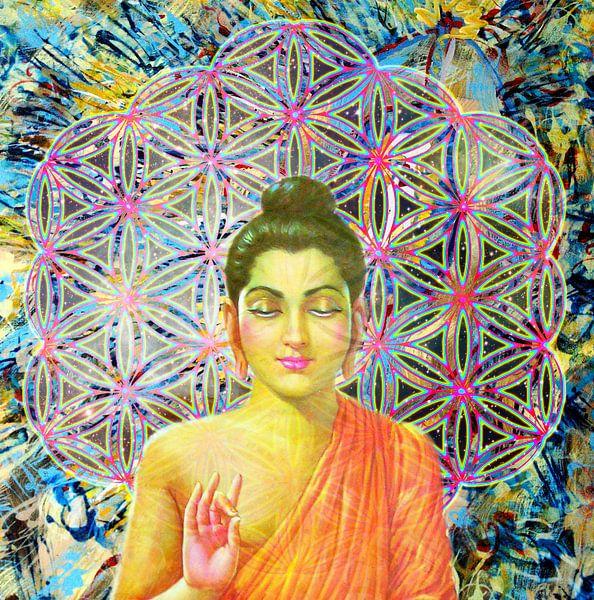 Blume des Lebens Buddha von Giovani Zanolino