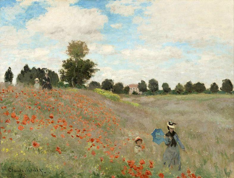 Das Mohnfeld in Argenteuil, Claude Monet von Meesterlijcke Meesters