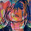Kate Moss Abstrakt Game Part 2 van Felix von Altersheim thumbnail