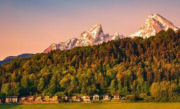 Morgenlicht im Berchtesgadener Land, Bayern, Deutschland von Henk Meijer Photography