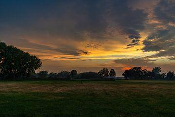 Zonsondergang bij Barneveld van Cees de Vreugd