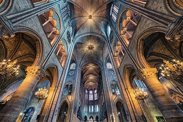 Die Architektur von Notre-Dame von Manjik Pictures