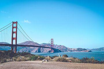 Golden Gate Bridge, San Francisco, Amerika van Daphne Groeneveld